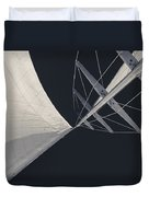 Obsession Sails 8 Black And White Duvet Cover