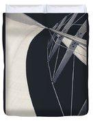 Obsession Sails 9 Black And White Duvet Cover