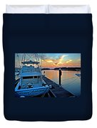 Ocean Addiction Sunset Duvet Cover