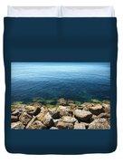 Ocean And Rocks Duvet Cover