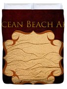 Ocean Beach Art Gallery Duvet Cover