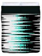 Ocean Gentle Waves Abstract Digital Painting Duvet Cover by Georgeta Blanaru