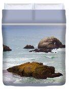 Ocean Rocks Near San Francisco Ca Cliff House Duvet Cover