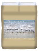 Ocean Shore With Sparkling Waves Duvet Cover