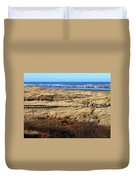 Ocean Shores Boardwalk Duvet Cover