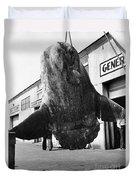 Ocean Sunfish Mola Mola  Monterey 1946 Duvet Cover