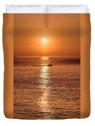 Ocean Sunrise At Montauk Point Duvet Cover