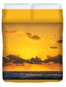 Ocean Sunrise Clouds Duvet Cover