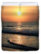 Ocean Sunrise Over Myrtle Beach Duvet Cover