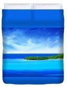 Ocean Tropical Island Duvet Cover