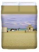 Ocean View 3 - Miami Beach - Florida Duvet Cover