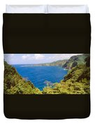 Ocean View From The Road To Hana, Maui Duvet Cover