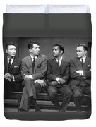 Ocean's Eleven Rat Pack Duvet Cover