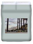 Oceanside Pier Duvet Cover