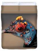 Ocellated Turkey Portrait Duvet Cover