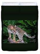 Ocelot Felis Pardalis Wildlife Rescue Duvet Cover