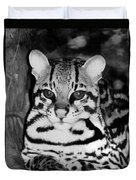 Ocelot In Repose Duvet Cover