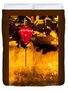 Ochre Wall Silk Lantern 03  Duvet Cover