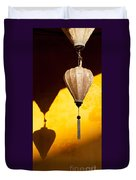Ochre Wall Silk Lanterns  Duvet Cover