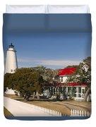 Ocracoke Island Lighthouse Img 3529 Duvet Cover