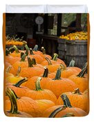October At The Farm - Pumpkins Duvet Cover