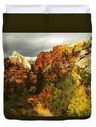 October In Zion Duvet Cover