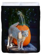 October Kitten #1 Duvet Cover