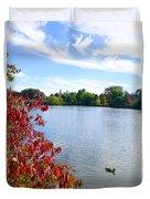 October On The Lake Duvet Cover