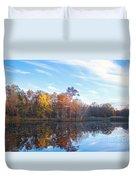 October Pond View Duvet Cover