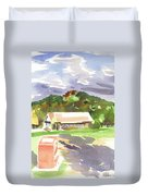 October Shadows At Fort Davidson Duvet Cover
