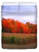 October Sunset On The Autumn Woods Duvet Cover