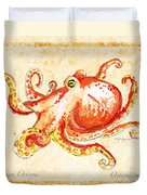 Octopus For Study Duvet Cover