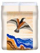 Odyssey Illustration  Bird Of Potent Duvet Cover