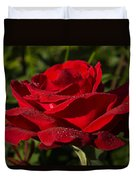 Of Red Roses And Diamonds  Duvet Cover