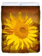 Of Sunflowers Past Duvet Cover
