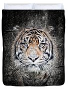 Of Tigers And Stone Duvet Cover