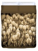 Of Tulips Past Duvet Cover