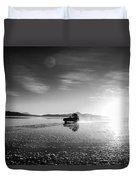 Off Road Uyuni Salt Flat Tour Black And White Duvet Cover