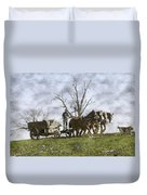 Off To The Field Duvet Cover