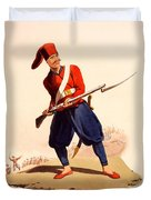 Officer Of European Infantry Of Ottoman Duvet Cover by Thomas Charles Wageman