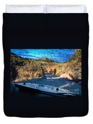 Offroad Driving View From Inside The Car Duvet Cover