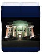 Oglebay Hall At Night Duvet Cover