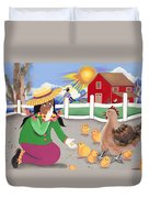 Oh Chick Duvet Cover