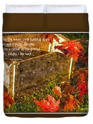 Oh How I Love Autumn With Poetry Duvet Cover