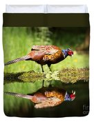 Oh My What A Handsome Pheasant Duvet Cover