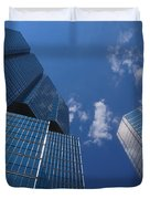 Oh So Blue - Downtown Toronto Skyscrapers Duvet Cover