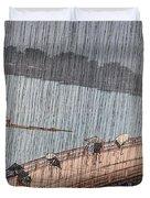 Ohashi Sudden Shower At Atake Duvet Cover