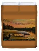 Ohio Autumn In Orange Duvet Cover
