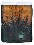 Ohio Bird House At Sunset Duvet Cover