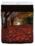 Ohio Fall Scenery Duvet Cover